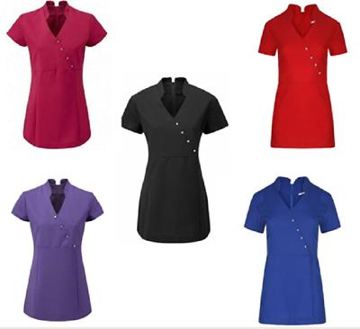 Women/'s Tunic  Hairdressing SPA Therapist Massage Salon Uniform  8-10 to 24-26 U