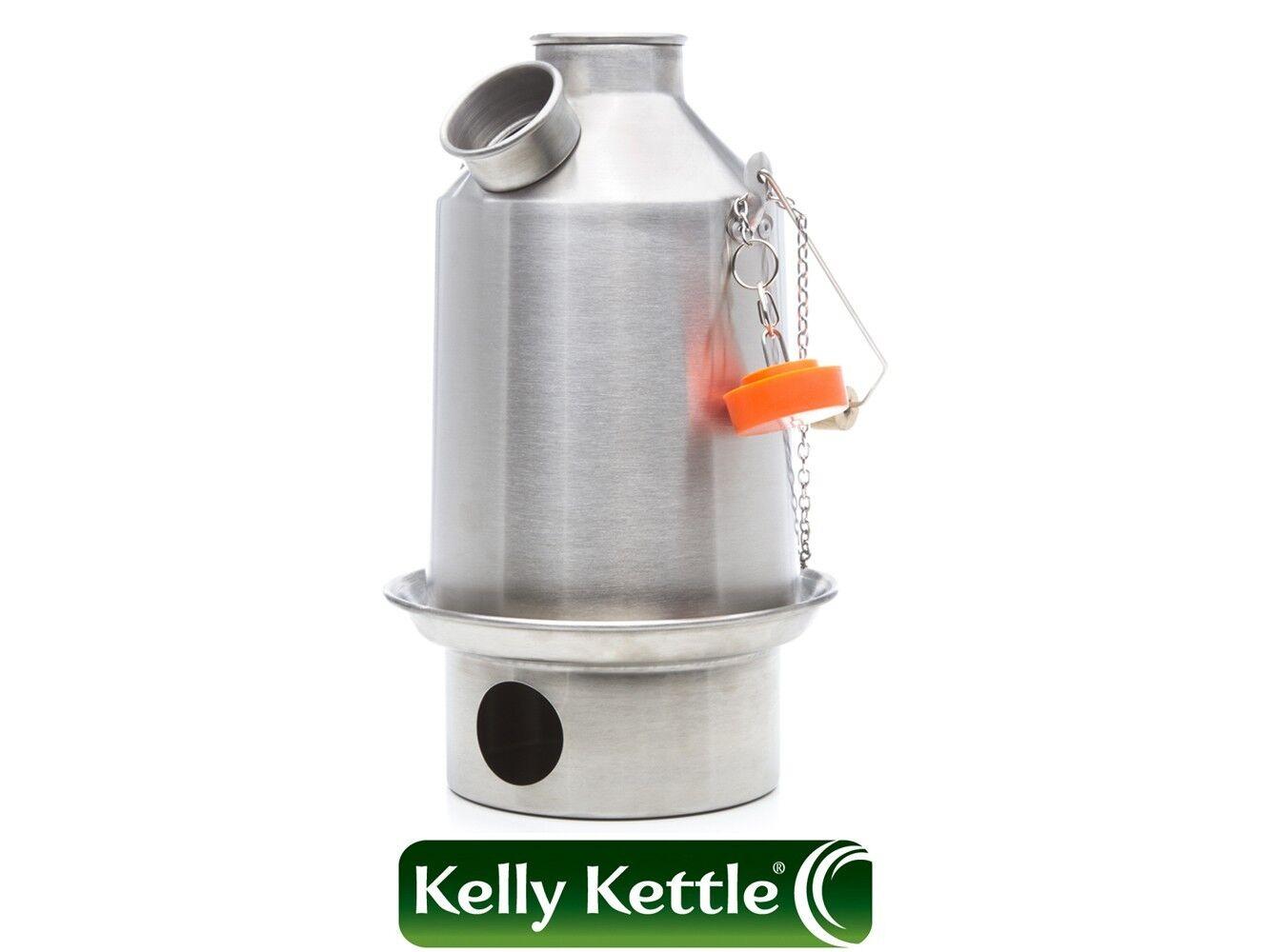 Alluminio 'Scout' (1.2 Litre) Kelly Kettle,Kit ,Ecc. Campeggio Bollitore,Legno