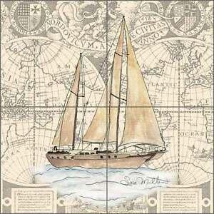 Nautical-Tile-Backsplash-Mullen-Sailboat-Boat-Chart-Art-Ceramic-Mural-SM029