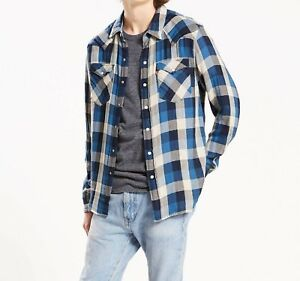 LEVI-039-S-CLASSIC-WESTERN-Shirt-Men-039-s-SMALL-Authentic-BRAND-NEW-669860069