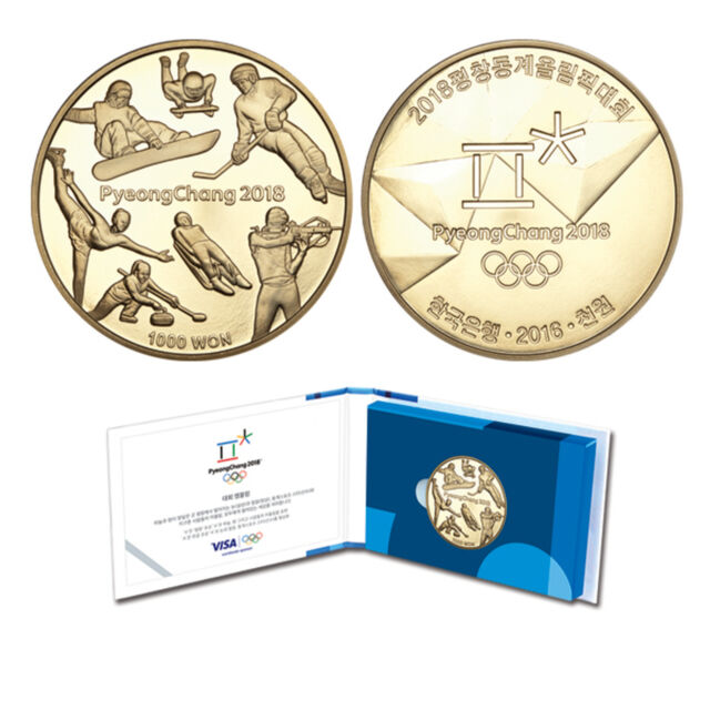 [PyeongChang 2018] Korea Winter Olympic Coin Brass Bronze Proof Collectibles