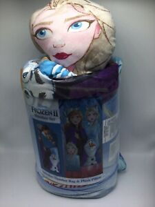 Disney Frozen 2 Elsa /& Anna Sleeping Bag /& Pillow Slumber Set Sleepover NEW