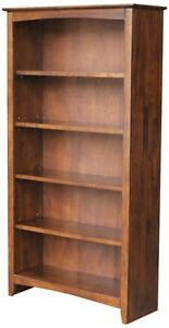 Whitewood Home accents Shelf unit RTA Shaker bookcase - 60 H Espresso Bookcase