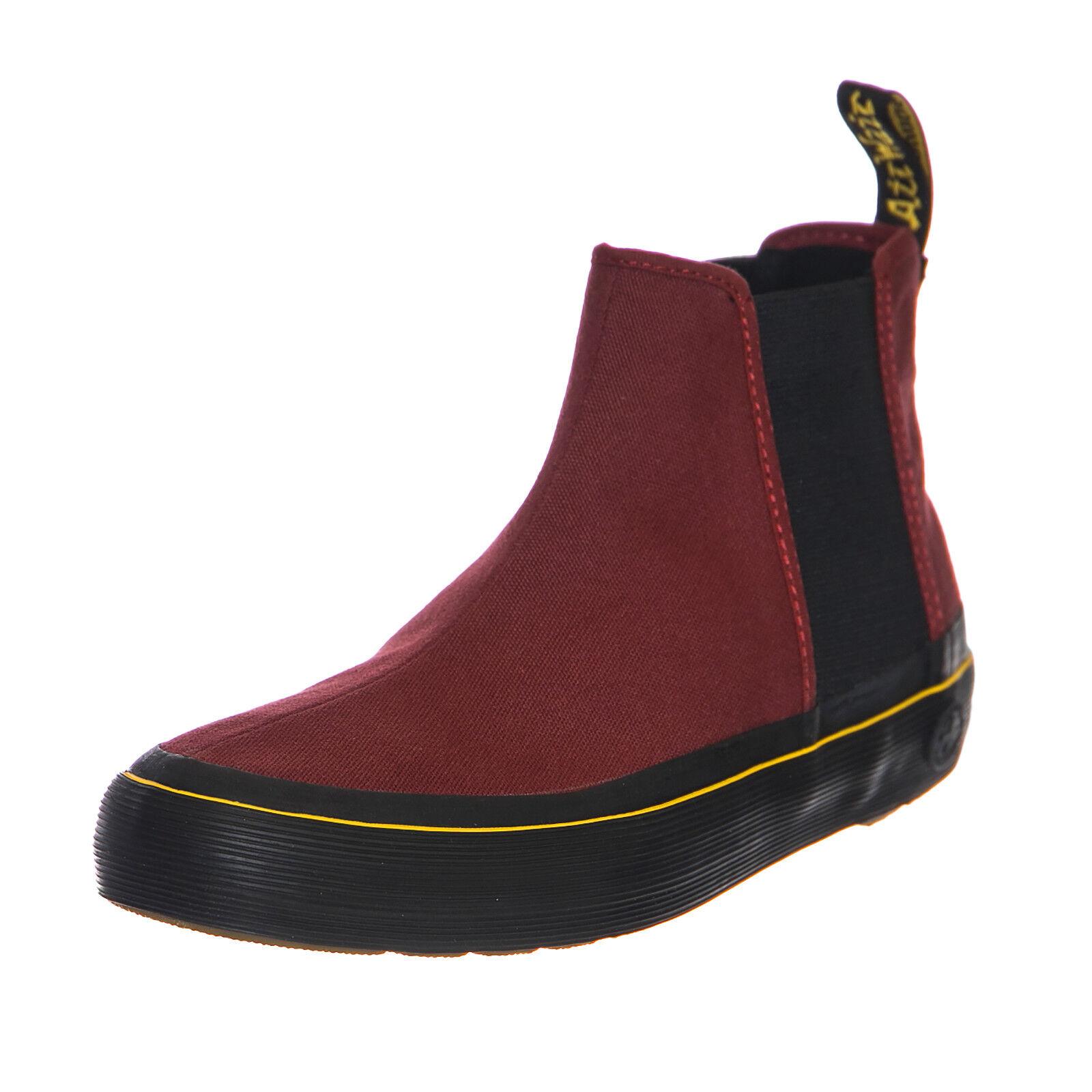 Dr.Martens Sneakers Phoebe Cherry Red Canvas Bordeaux