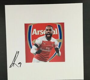 ALEXANDRE-LACAZETTE-ARSENAL-FOOTBALLER-SIGNED-COLOUR-PHOTO-DISPLAY