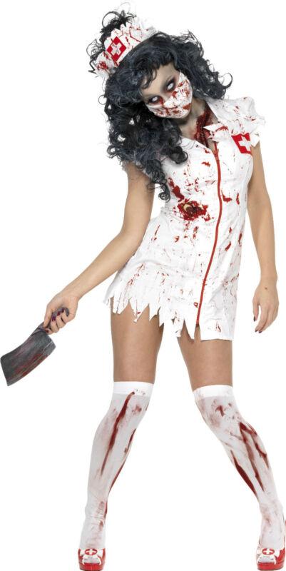 Venta Zombie Enfermera-damas Hospital Muertos Vivientes Disfraz De Halloween Disfraz