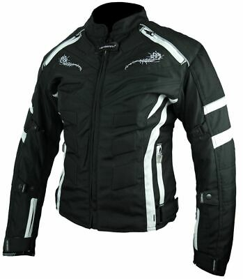 HEYBERRY kurze Textil Motorrad Jacke Motorradjacke Schwarz Neon Gr 5XL