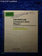 Sony Bedienungsanleitung CDX C90R CD Player (#3223)