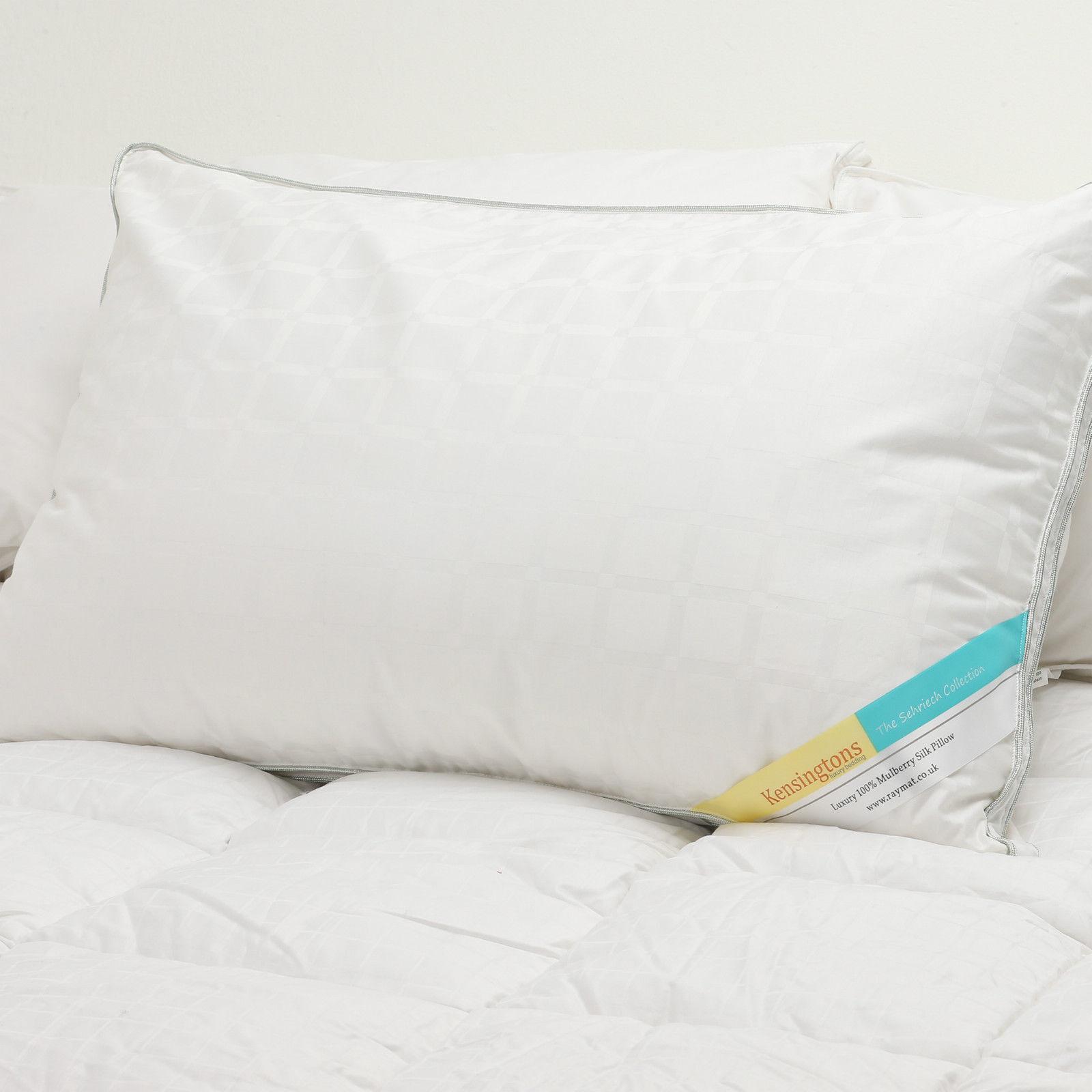Natürlich Maulbeerseide Gefüllt Kissen 100% 400 TC Weich Hotel Qualität 1300g