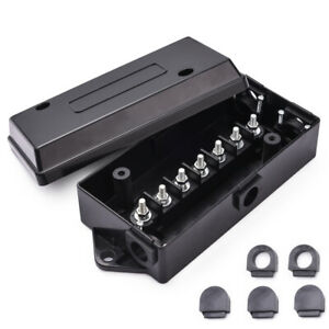 Details about MICTUNING 7 Port way Trailer Wire Cord Junction Box Truck on