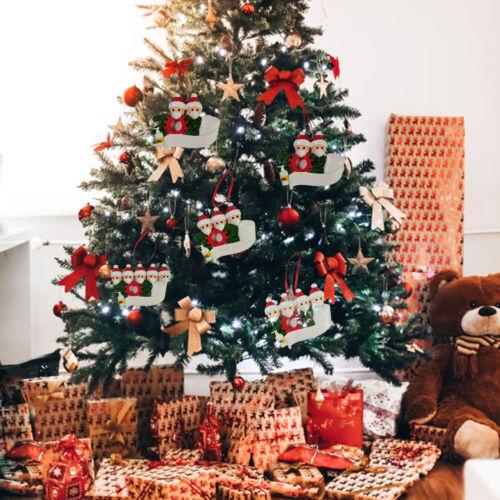 Personalised Family Christmas XMAS Tree DIY Decor Bauble Gift Ornament Pendant