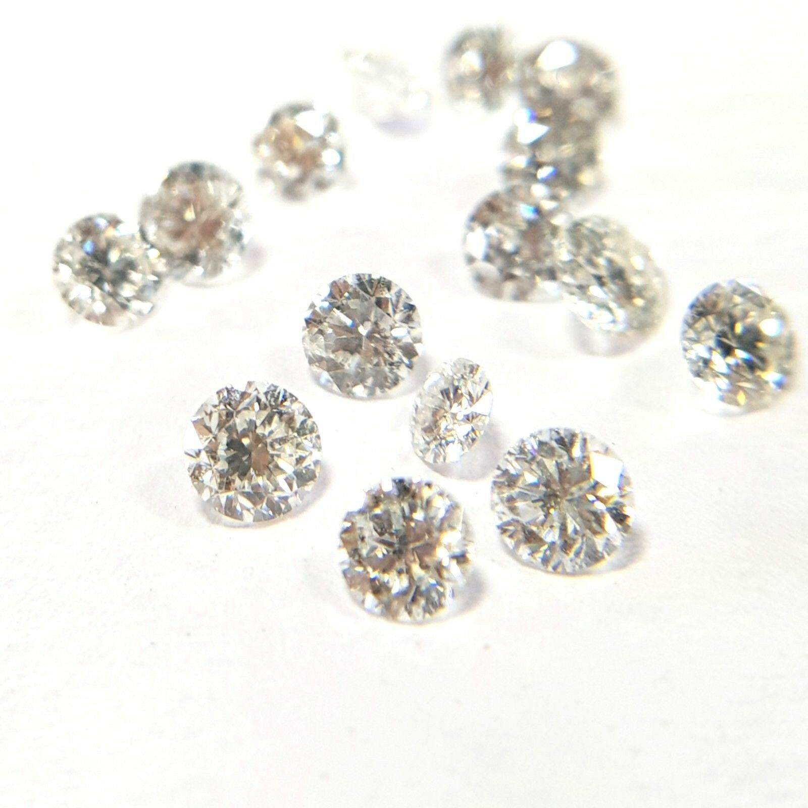 Natural Loose Diamonds Round 10 Pcs Lot VS Clarity F White color 100% Real