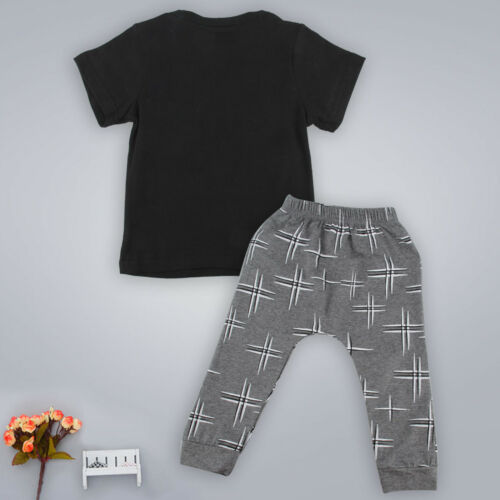 MAMAS BOY Baby Jungen Outfit Set Sommer Kleidung Kurzarm T Shirts Tops Lang Hose