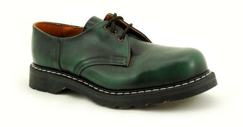 Scarpe casual da uomo  Premium RANGER NPS MADE IN ENGLAND Green RUB FUORI 3 OCCHIO ns037-hsc51grrow