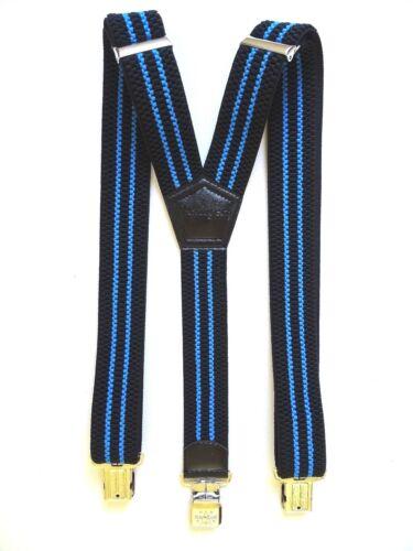 Blue 4 cm Extra starke Ranger Y-Form Beruf Freizeit Hosenträger Dyk40 Schwarz
