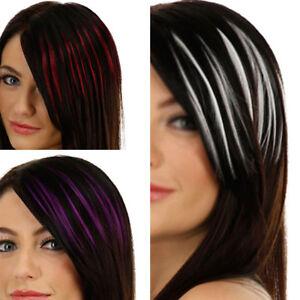 Mode-Femme-Fausse-Frange-Extensions-Cheveux-Droit-Bob-Perruque-Clip-Couleurs-NF