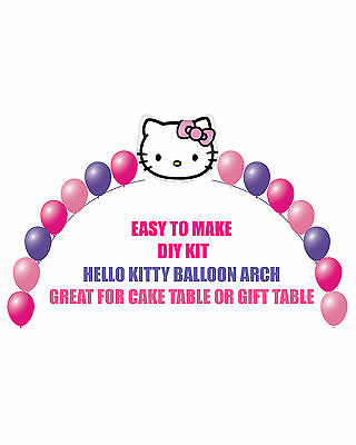 33PC Hello Kitty Foil Helium Balloon Birthday Party Props Cake Bow Star for Girl