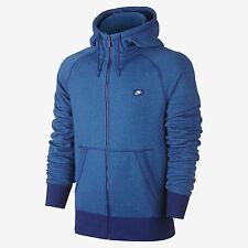 Nike Men's sz M AW77 Shoebox French Terry Full Zip Hoodie NEW 727395 455 Blue