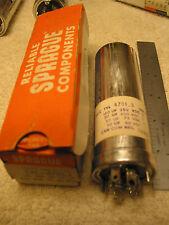 NOS Sprague TVLU- 160uF@250V 20uF@450V 50uF@75V 50uF@50V Electrolytic Capacitor