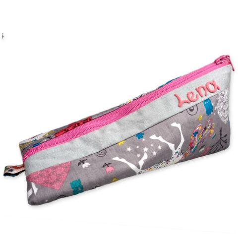 Schlampermäppchen Einhorn Kosmetiktasche für Mädchen Federmäppchen mit Namen