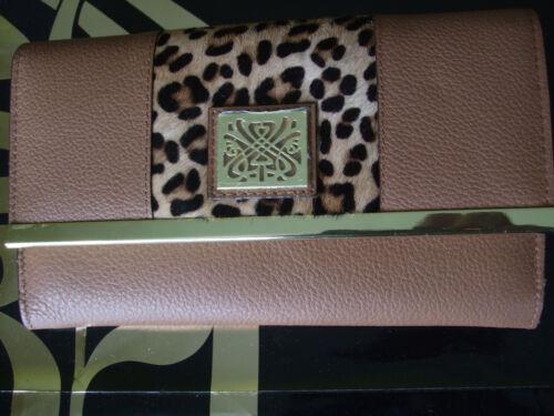 1db7b2682a Purse New Biba Hair amp; Tan Leather Large Leopard Pony C8UraC
