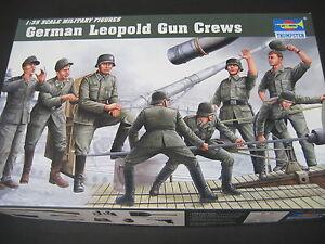 TRUMPETER-1-35GERMAN-LEOPOLD-GUN-CREW-WW2-FIGURES-MODEL-KIT-PLASTIC
