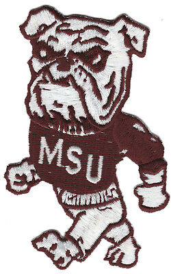 Vtg Mississippi State MSU Bulldogs NCAA College Team Iron//Sew-On Patch