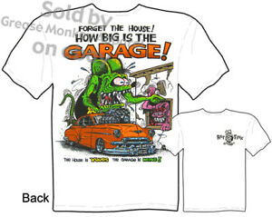 1950-Chevy-Rat-Fink-T-shirt-50-Big-Daddy-T-Forget-The-House-Tee-M-L-XL-2XL-3XL
