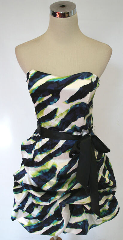 NWT TEEZE ME  80 White Navy Lime Party Prom Dress 9