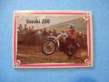 Collectible 1970s Motorcycle TRADING CARD ~*~ SUZUKI 250 Motorcross Championship
