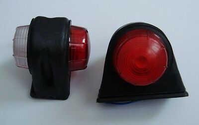 2 Marker Side Lights Indicators Truck Lorry Wagon Tractor Trailer Kitcar Chassis