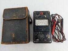 Vintage Triplett Model 666 Voltmeter Ohmeter Multimeter With Case Amp Leads