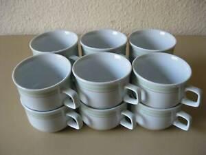12-x-DDR-Design-Porzellan-Kaffeetasse-VEB-Ilmenau-Vintage-um-1970-Rationell