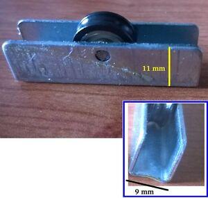 10 Ruedas De Ventanas Correderas J3 Repuestos Aluminio Rodamientos Vitrina Ebay