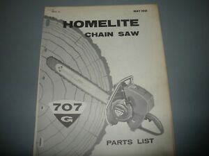 image is loading homelite-chainsaw-707g-1961-illustrated-parts-list-manual-