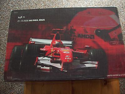 Contemplativo 1/18 Michael Schumacher Ferrari 248f1 2006 Gp Brasile-mostra Il Titolo Originale