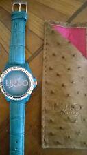 Orologio Donna LIU JO Luxury Pelle Swarowski NEW + Borsa Pochette LIU-JO