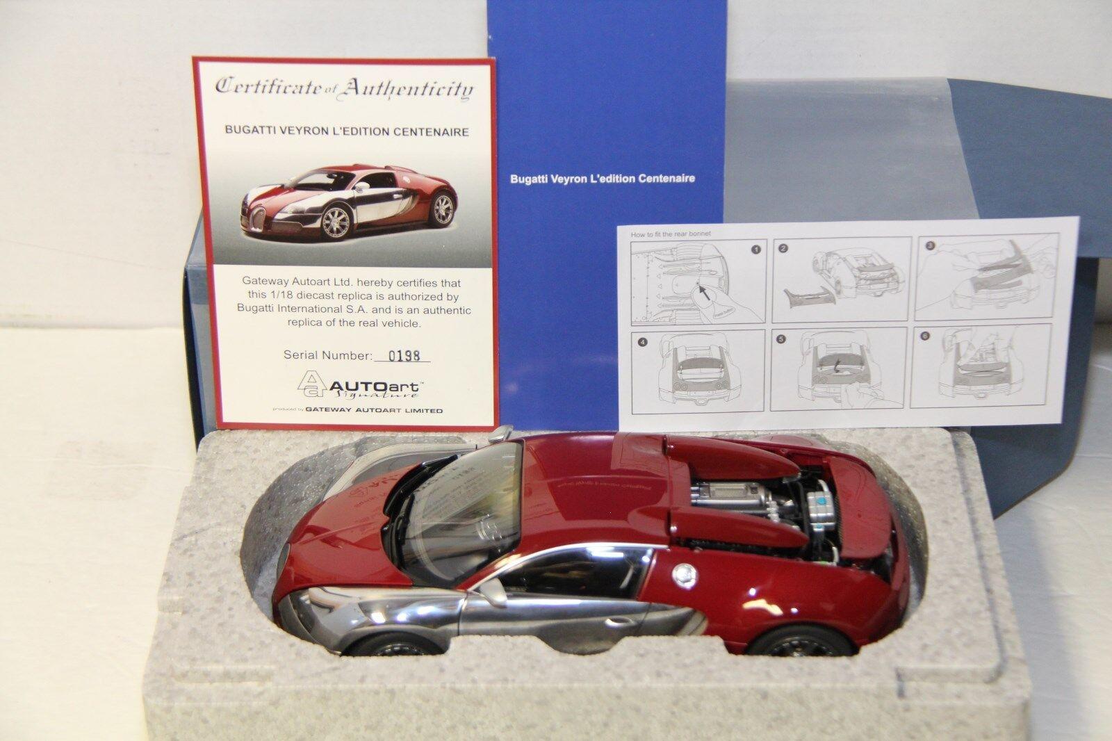 Autoart Bugatti Veyron l'edition bastantes, Rojo Italiano, 70957, nuevo