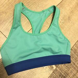 989f979975 CHAMPION C9 Women s Racerback Medium Support Sports Bra Green Blue ...