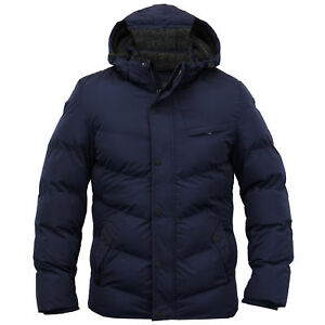 e2daceef60b Details about Mens Jacket Dissident Coat Sherpa Fleece Hooded Padded Bubble  Bomber Winter New