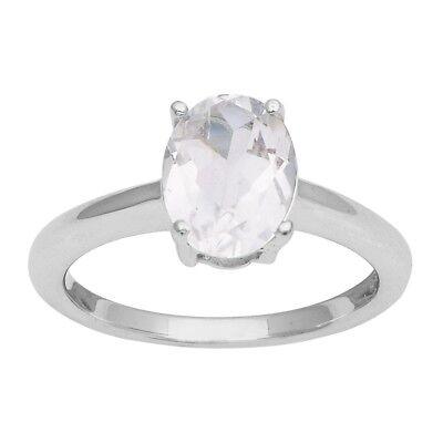 2d884e80ffbf8 Oval Cut White Topaz 925 Silver Single Stone Solitaire Ring Women Wedding  Band | eBay