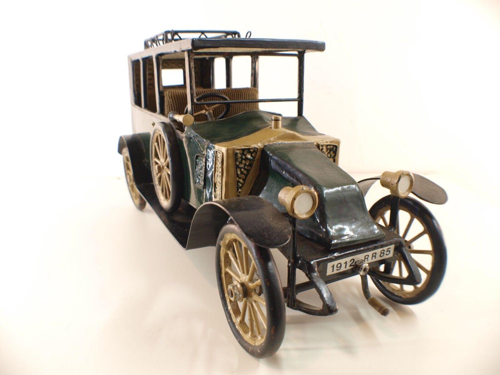 CREATION RONDEAU FRANCE n° 1 RENAULT Berline de voyage 1912 RARE en métal 47 cm