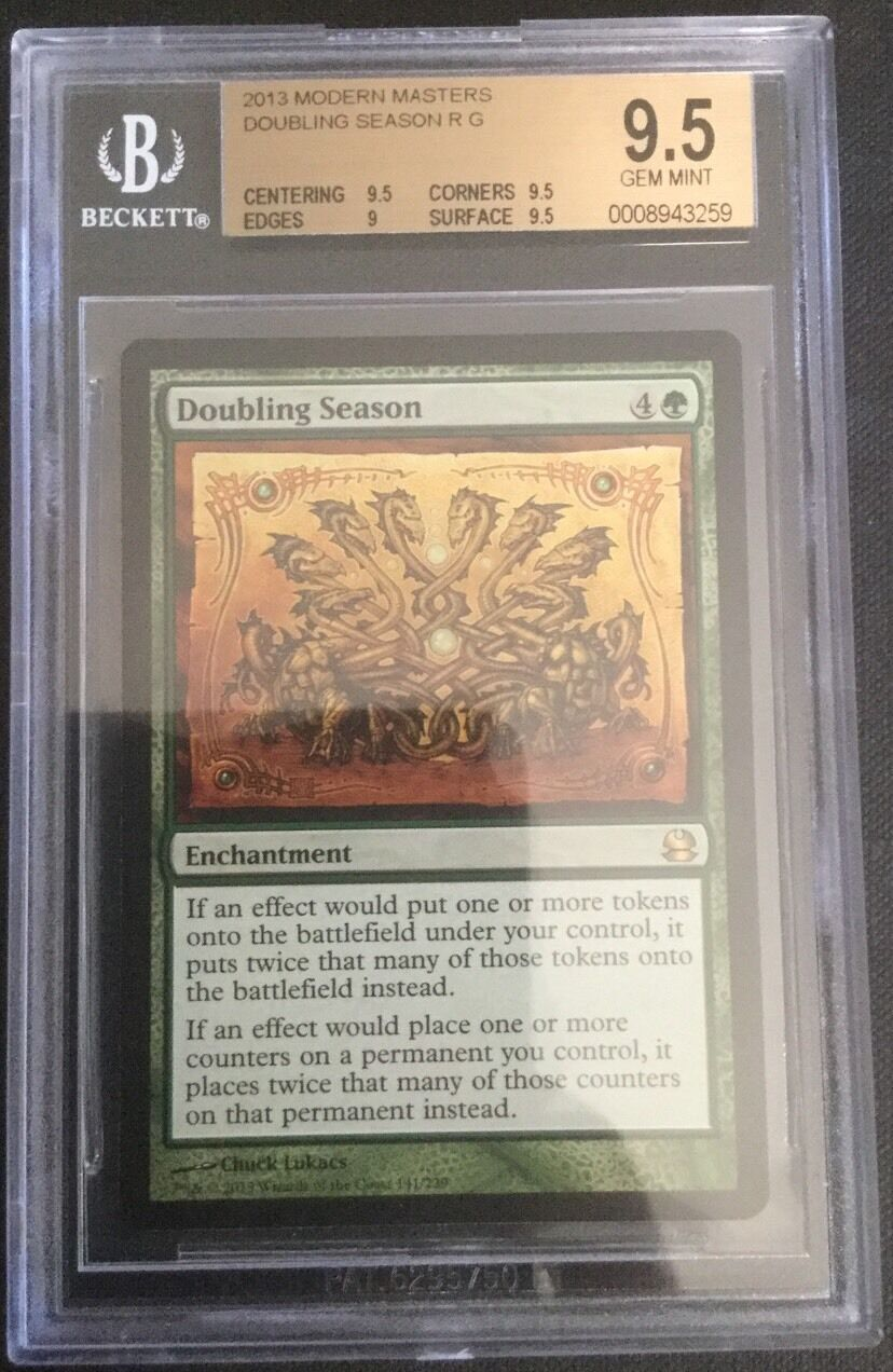 Doubling Doubling Doubling Season - BGS 9.5 - Modern Masters  - MTG - Rare 367799