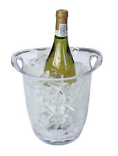 Plástico Acrílico Cubo de Hielo Enfriador de vino bebidas balde Champagne pantalla clara Fiesta