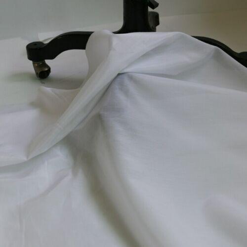 Yarda 1 140cm Seda Natural//Tela De Algodón Vestido Blanco Puro Seda Forro material para