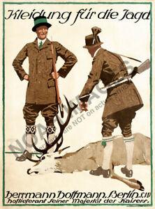 Hoffman vintage german hunting clothing fashion ad poster ...