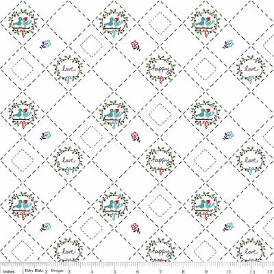 Riley Blake Country Girls Designer Fabric C3646 White 100/% Cotton fat quarter