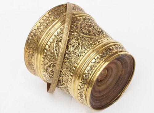 antik orient Messing Eimer kübel Blumenübertopf  Persien brass persian bucket A