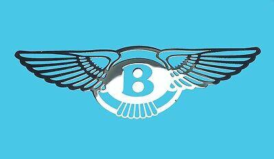 Frank Bentley Metallic Chrome Effect Sticker Logo Aufkleber 30x10mm QualitäTswaren