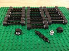 LEGO NEW Bulk Lot - 20 Tire Wheel Rim Black 1x4 Axel Sets (100 pieces)